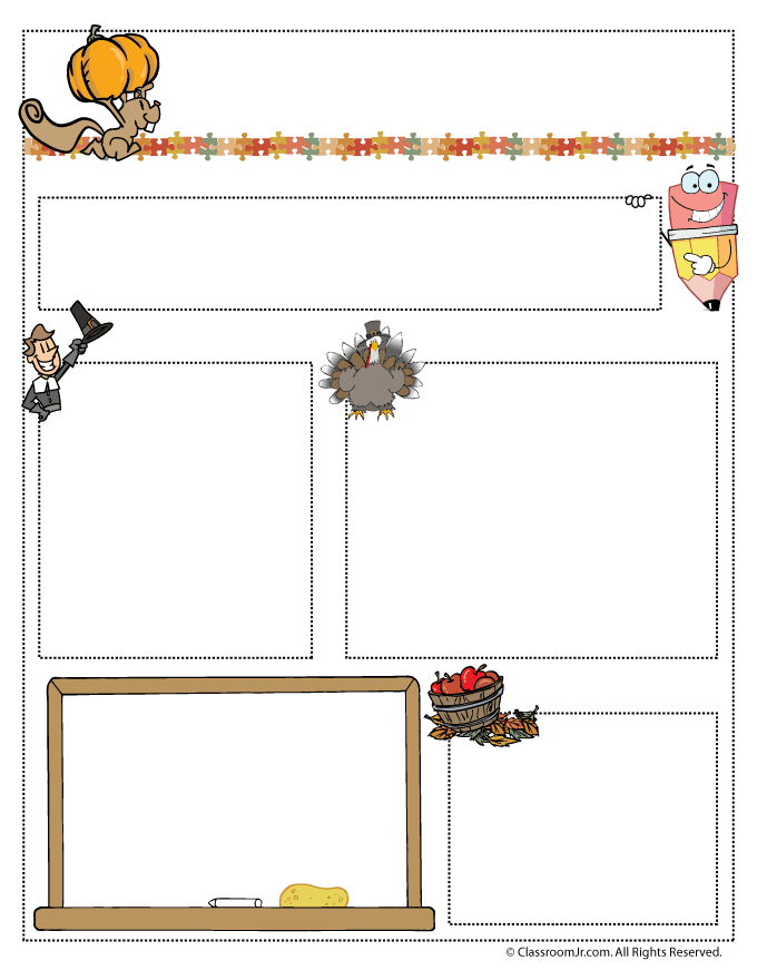 Classroom Decoration Ideas Pdf ~ November teacher newsletter template woo jr kids