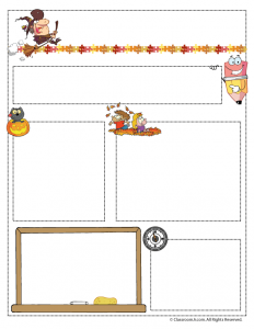 October Teacher Newsletter Template