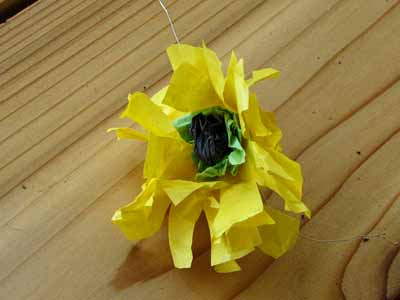 Tissue Paper Black Eyed Susan Flower