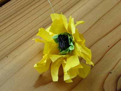 Tissue Paper Black Eyed Susan Flower