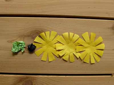 Paper Black Eyed Susan Flower Parts