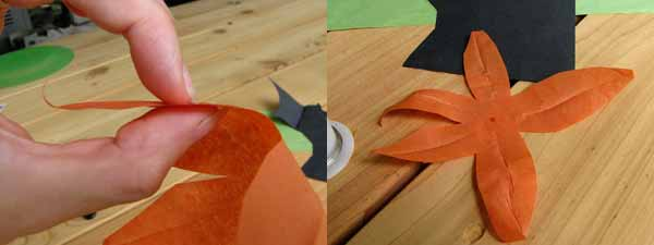 Making Paper Tiger Lily Petals