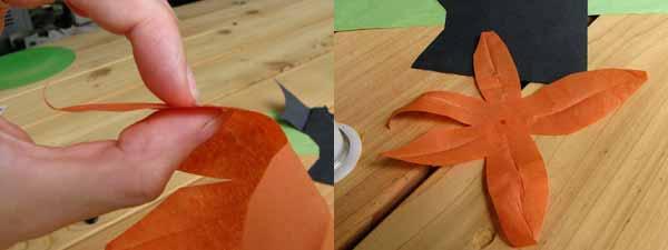 Making Paper Tiger Lily Petals