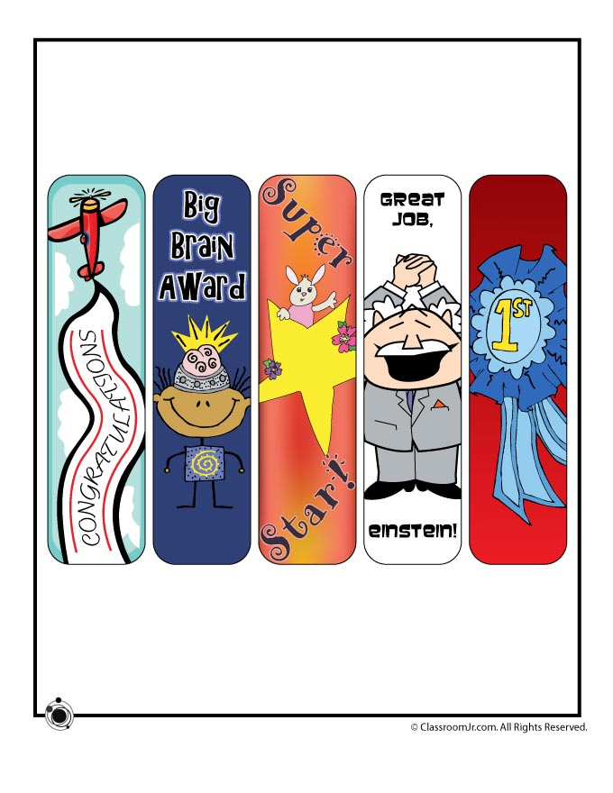 Printable Award Bookmarks for Teachers - Woo! Jr. Kids ...