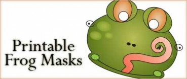 Printable Animal Masks: Frog Mask