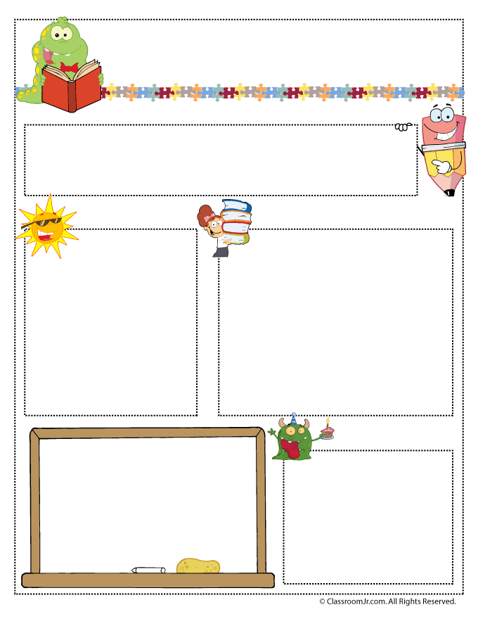 Teacher newsletter templates woo jr kids activities teacher newsletter templates spiritdancerdesigns Images
