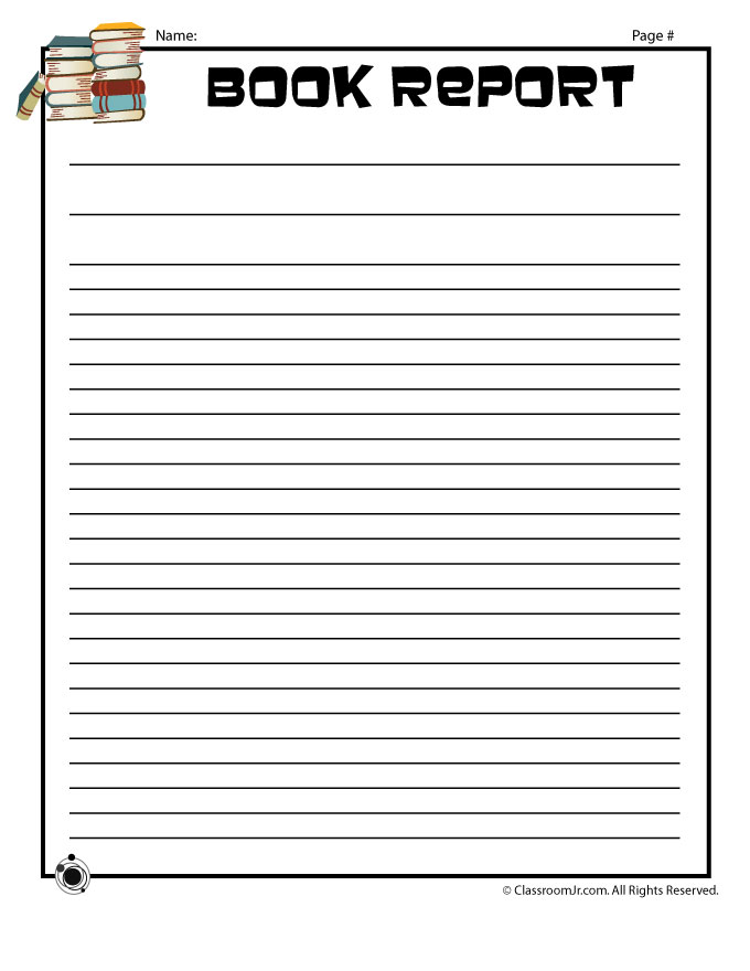 Amazing Blank Book Report Writing Page To Printable Book Report Forms