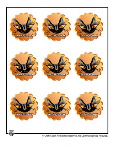 Halloween Cupcake Toppers - Too Cute to Spook