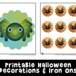 Halloween Cupcake Toppers/Stickers and Iron On Transfers
