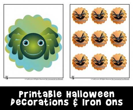 image regarding Printable Iron Ons identified as Halloween Cupcake Toppers/Stickers and Iron Upon Transfers