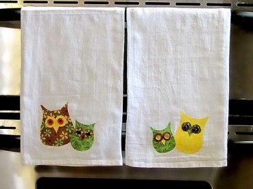 Fall Kitchen Crafts: Owl Towels