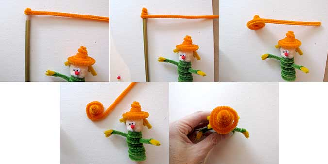 Pipe Cleaner Scarecrow Hat