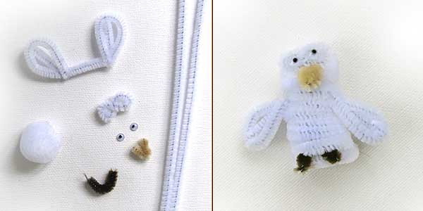 Snow Owl Finger Puppet Craft