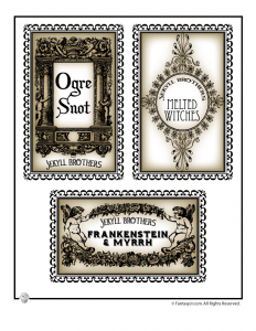 Small Halloween Drink Labels