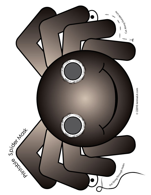picture regarding Spider Printable called Printable Halloween Spider Mask Woo! Jr. Small children Pursuits