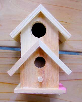 Unfinished Wood Mini Craft Birdhouse from Joann