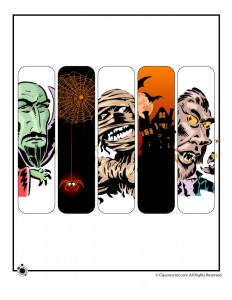 Halloween Bookmarks - Scary