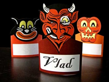 Printable Halloween Place Cards or Table Tents