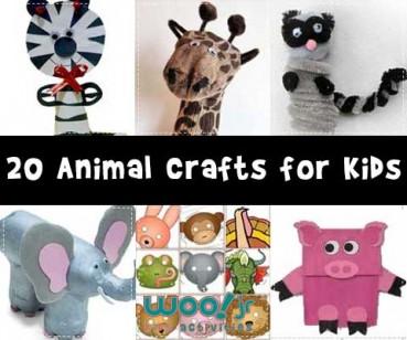 20 Animal Crafts for Kids