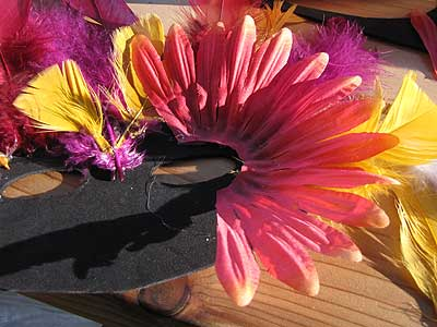 Gluing Petals to the Feather Mask
