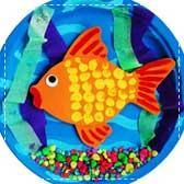 Paper Goldfish Aquarium
