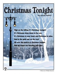 Christmas Tonight Poetry for Children