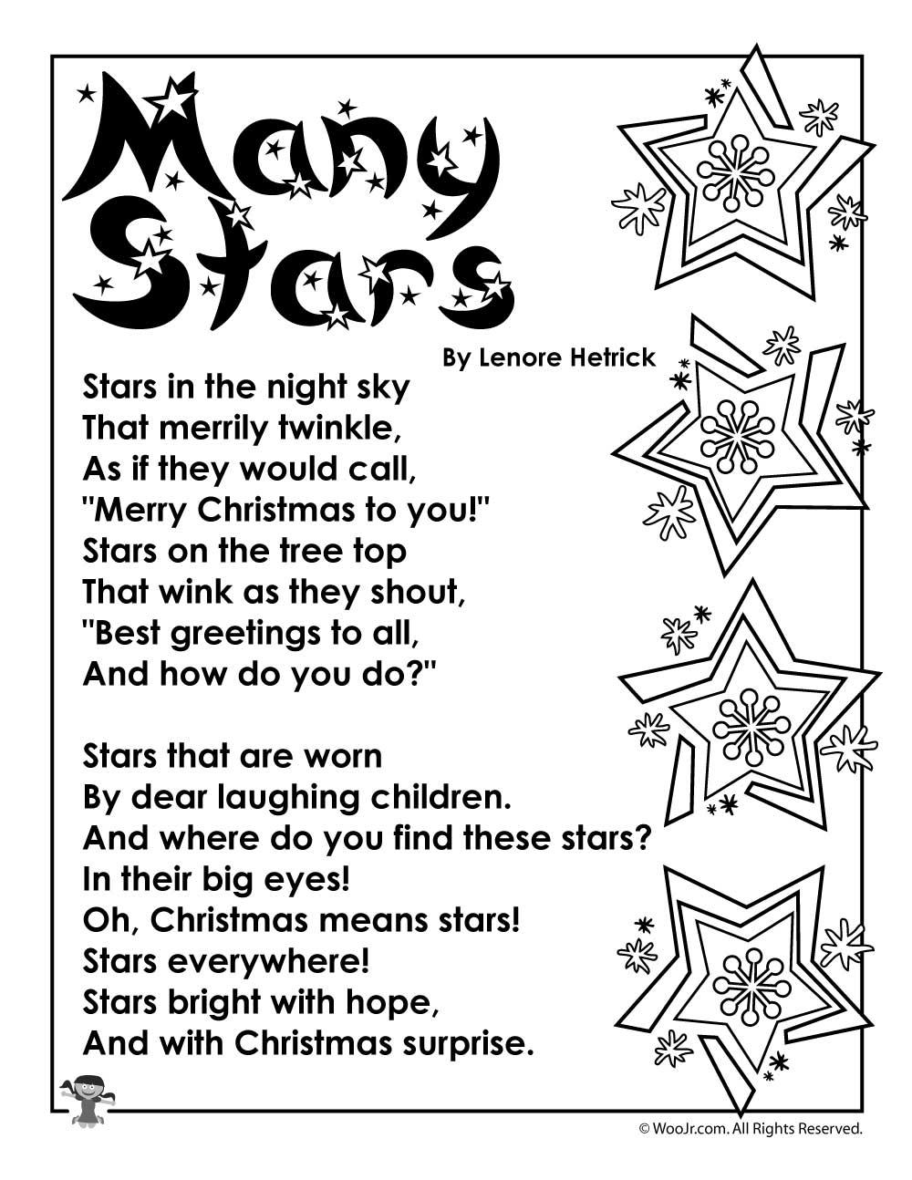 Many Stars Christmas Poem | Woo! Jr. Kids Activities
