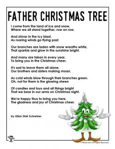 Father Christmas Tree Poem for Kids