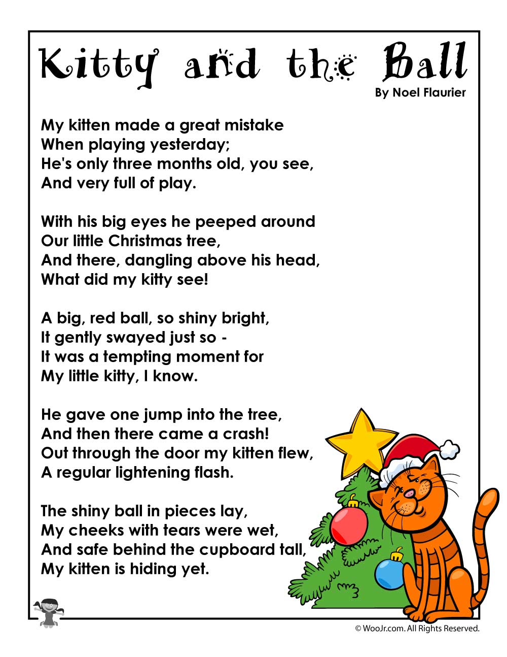 Kitty And The Ball Poem For Christmas Woo Jr Kids