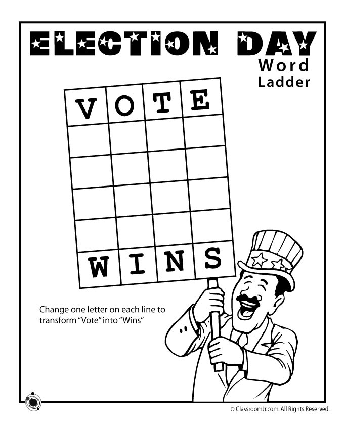 Election Worksheets for Kids | Woo! Jr. Kids Activities