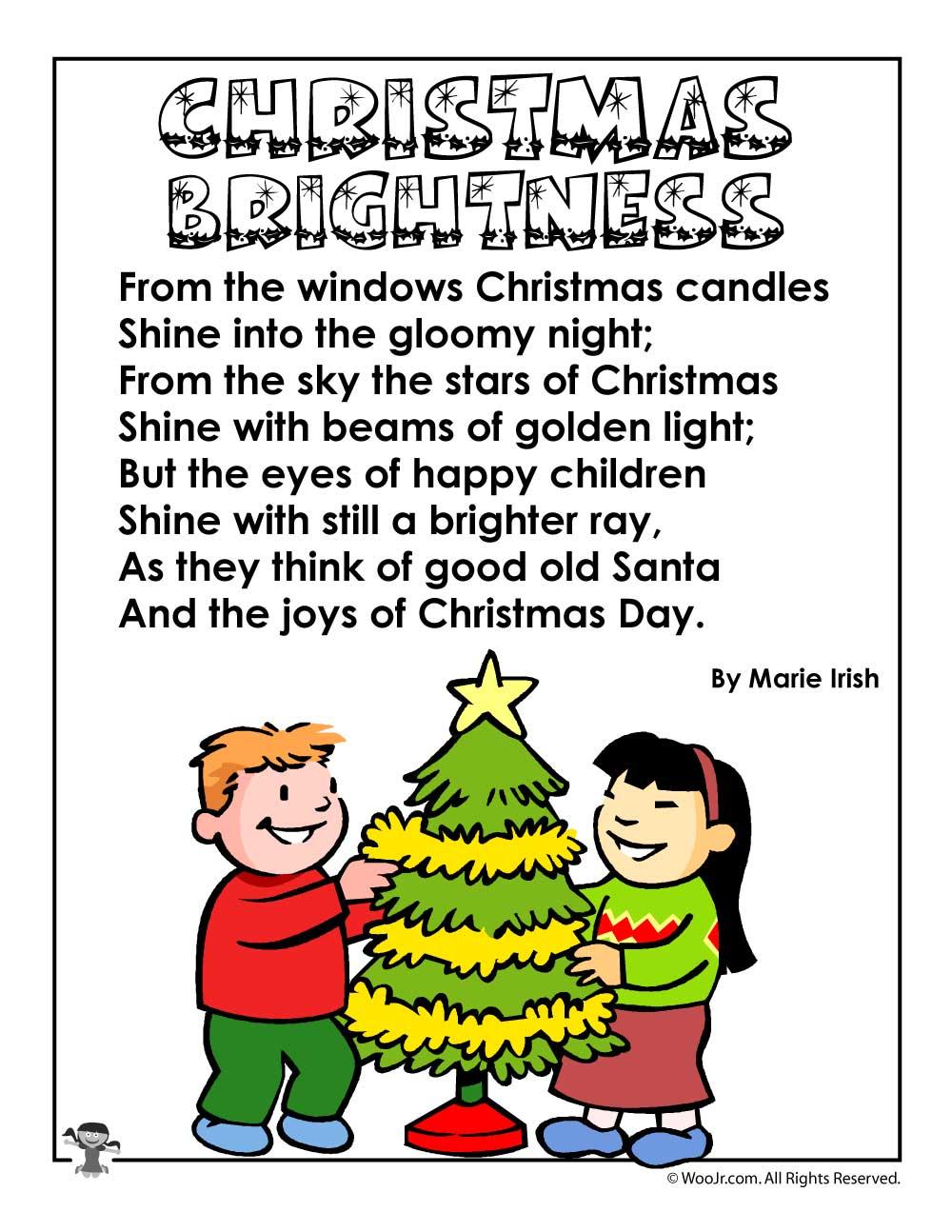 Christmas poems for kids woo jr kids activities christmas brightness poem spiritdancerdesigns Choice Image