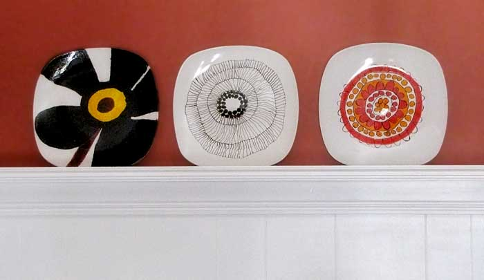 DIY Marimekko Plates So Easy a Kid Could Do It.