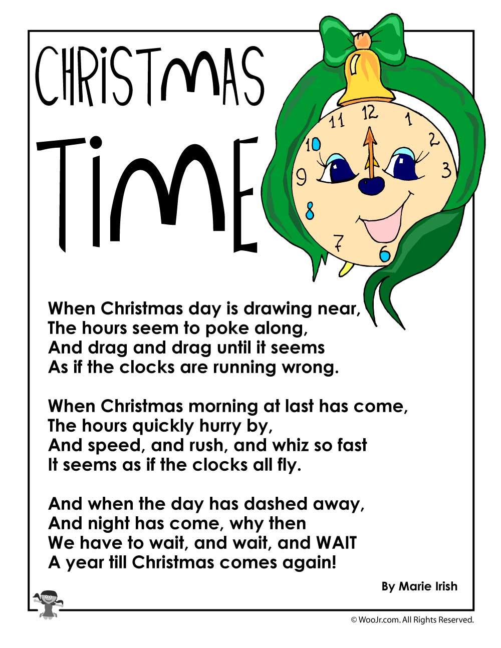 Christmas Time Poetry   Woo! Jr. Kids Activities
