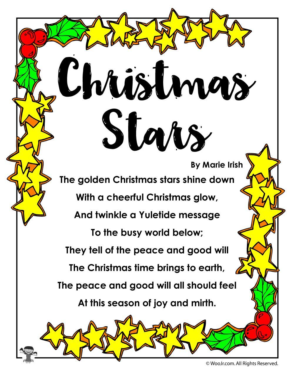 Christmas Stars Poetry for Kids | Woo! Jr. Kids Activities