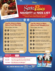 printable disney quiz 231x300 Disney Christmas Activities from Santa Paws
