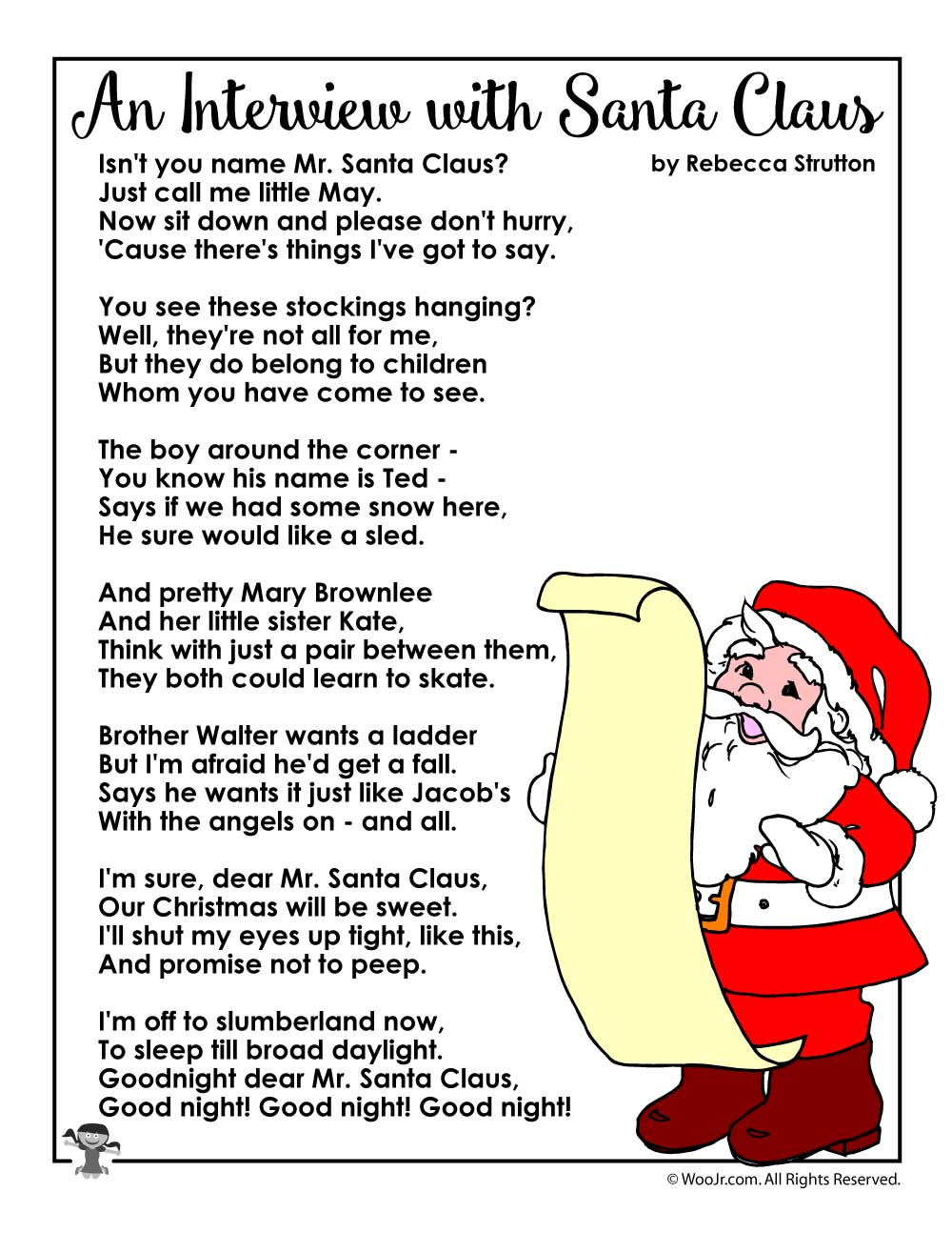 An Interview With Santa Claus Christmas Poems for Kids | Woo! Jr ...