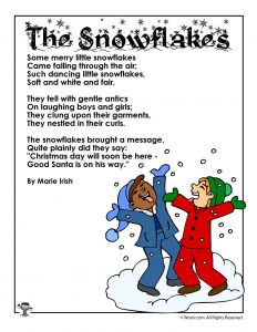 The Snowflakes Poem for Kids
