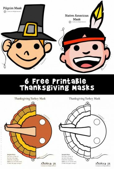 Printable Thanksgiving Masks