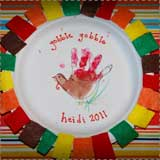 Turkey Handprint Paper Plate Craft