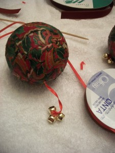 Once the ornament is dry, you can add a ribbon for a hanger.