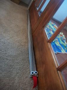 Our extra-long snake draft blocker.