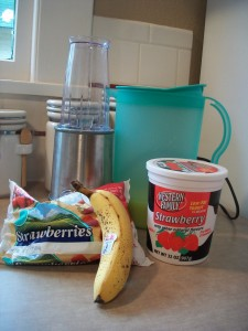 Everything in this yummy smoothie recipe is pretty healthy.