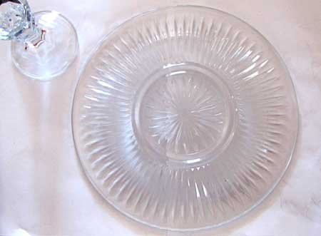 Glass cake stand parts from the dollar store