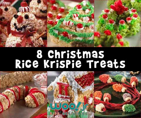 8 Christmas Rice Krispie Treats