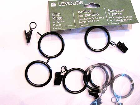 Using the curtain clip rings