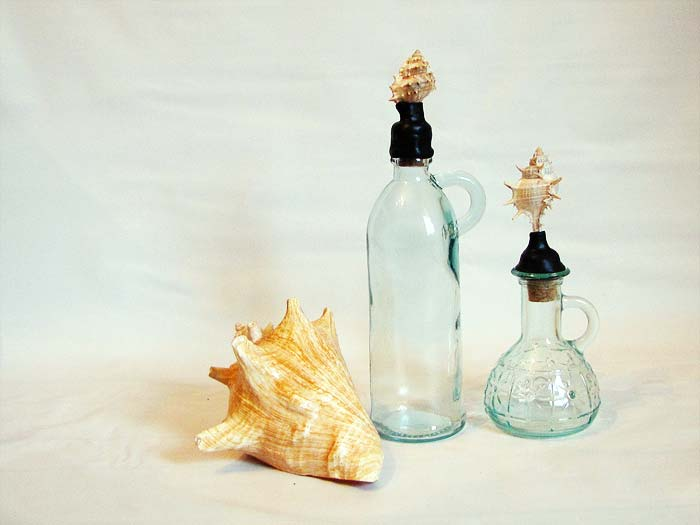 Anthropologie Inspired Shell Bottle Toppers Craft