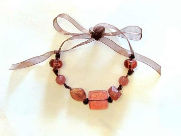 Beaded Ribbon Necklace Craft