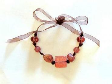 Beaded Ribbon Necklace Craft