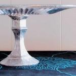 Make a Faux Mercury Glass Cake Stand