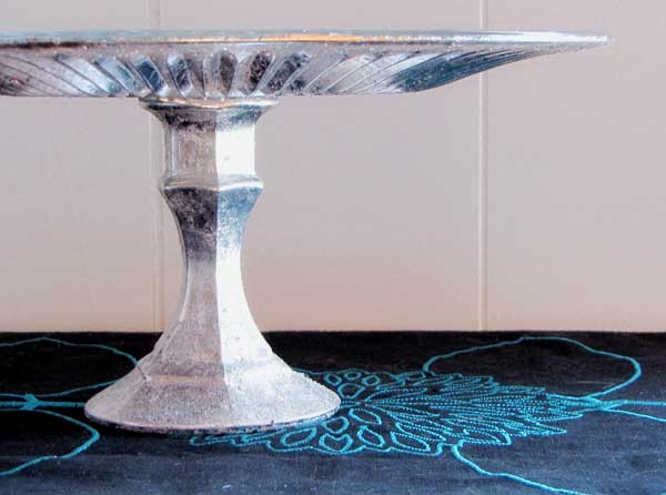 Faux Mercury Glass Cake Stand - Gifts Kids Can Make